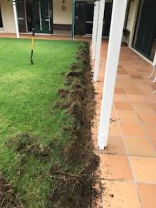 digging a termite trench