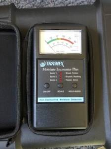 Tramex moisture meter used for termite inspections