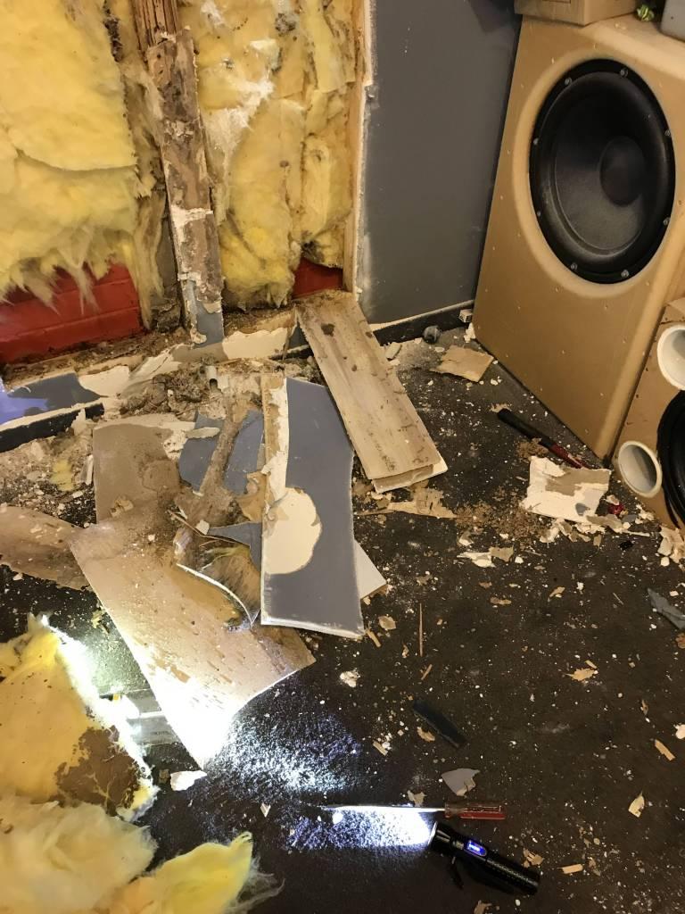 Termite damage from subterranean termites