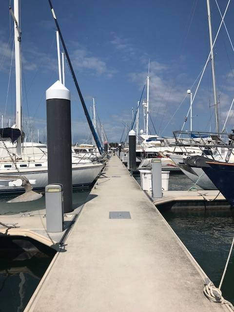 Marina berth at the Royal Queensland Yacht Squadron Manly Brisbane