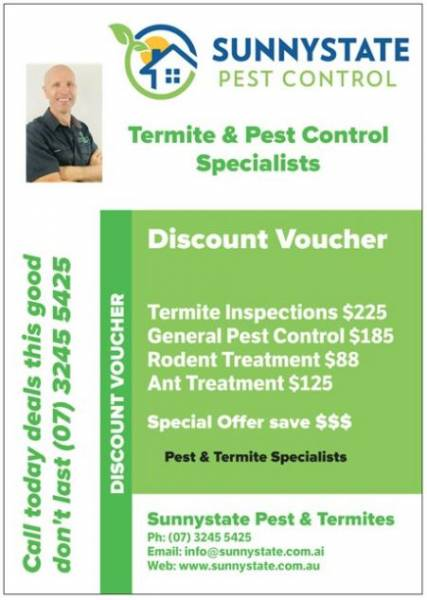 Pest control prices Sunnystate